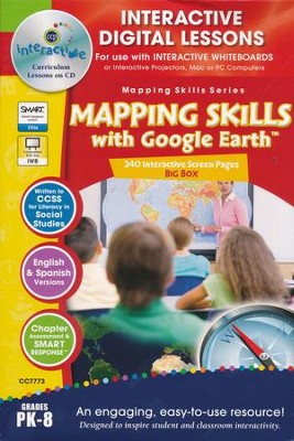 Mapping Skills with Google Earth Big Box Interactive Digital Lessons on CD-ROM Grades PreK-8  -     By: Paul Bramley