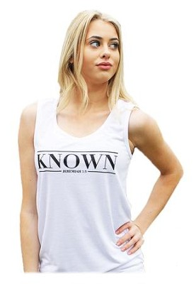 Known Tank Top for Women, White, Large   -