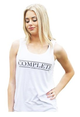 Complete Tank Top for Women, White, Large   -