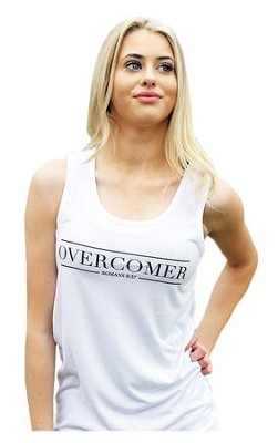 Overcomer Tank Top for Women, White, Extra Large  -