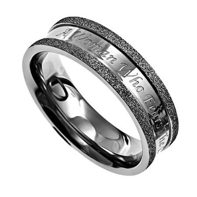 Woman of God, Silver Champagne Women's Ring, Size 6   -