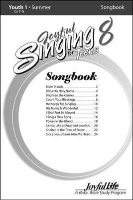 Joyful Singing for Teens #8 Songs   -