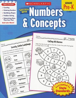 Scholastic Success with Numbers & Concepts  -