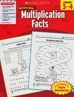 Scholastic Success with Multiplication Facts, Grades 3-4  -