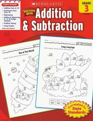 Scholastic Success with Addition & Subtraction, Grade 3  -