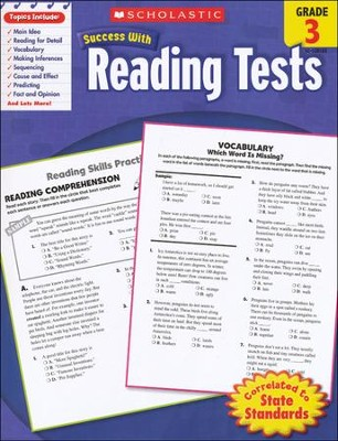 Scholastic Success With Reading Tests, Grade 3  -