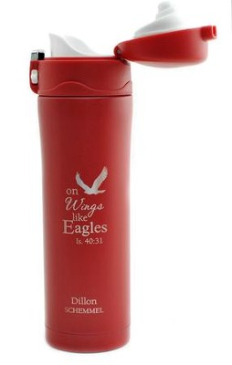 Personalized, Insulated Mug, Eagle, Red   -
