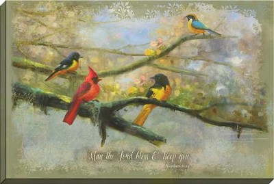 May The Lord Bless You, Birds Canvas Art, Numbers 6:24  -