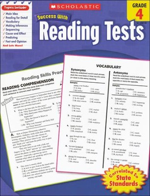 Scholastic Success With Reading Tests, Grade 4  -