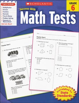 Scholastic Success with Math Tests, Grade 6  -