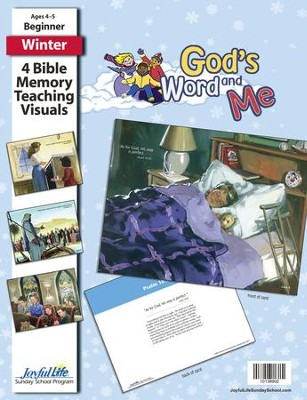 God's Word and Me Beginner (ages 4 & 5) Bible Memory Verse Visuals  -