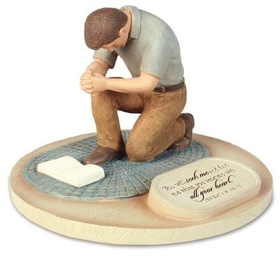Devoted Praying Man Figure  -