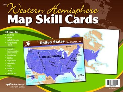 Abeka Western Hemisphere Map Skill Cards--Grades 6 to 8  (Updated Edition)  -