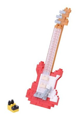 Nanoblock Mini, Electric Guitar, Red   -
