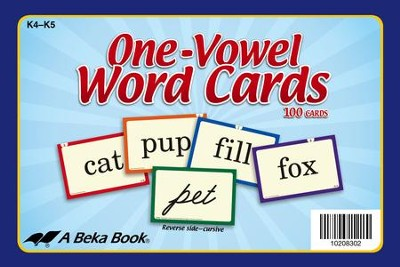 Abeka K4-K5 One-Vowel Word Cards (100 cards)   -