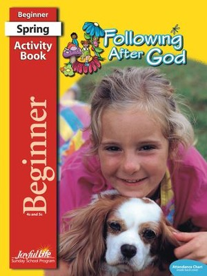 Following after God Beginner (ages 4 & 5) Activity Book (Spring Quarter)  -