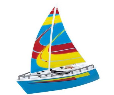 Wave Breakers Sail Boat, Blue  -