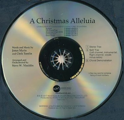 A Christmas Alleluia CD ChoralTrax   -
