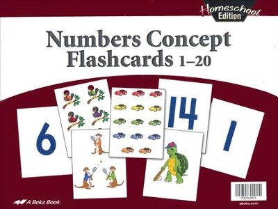 Abeka Homeschool Numbers Concept Flashcards 1-20   -