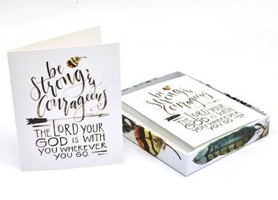 Be Strong Boxed Cards, Joshua 1:9  -     By: Ruth Chou Simons