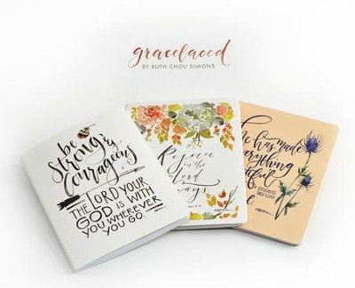 GraceLaced Notepads, Set of 3, Multiversed  -     By: Ruth Chou Simons