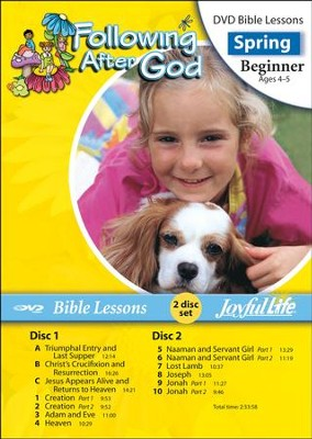 Following after God Beginner (ages 4 & 5) Bible Lesson DVD (Spring Quarter)  -