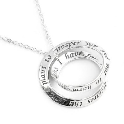Sterling Silver Double Mobius Pendant, Jeremiah 29:11   -