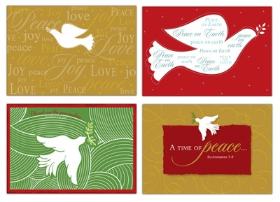 Doves of Peace Christmas Cards, Box of 12  -