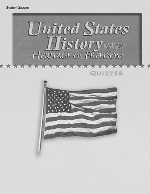 Abeka United States History in Christian Perspective:  Heritage of Freedom Quizzes  -