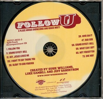 Follow U (Split-Track Accompaniment CD)   -