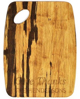 Personalized, Tiger Wood Cutting Board, Give Thanks,   Large  -