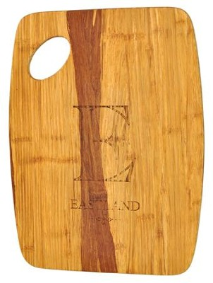 Personalized, Tiger Wood Cutting Board, Large,  Family Name  -