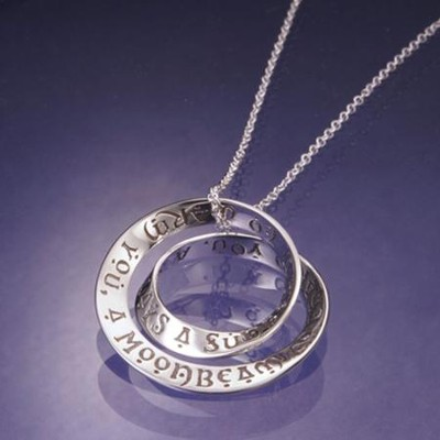 Irish Blessing, Sterling Silver Double Mobius Pendant  -