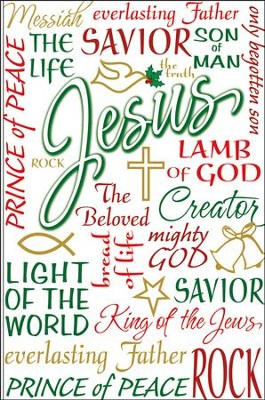 Names of Jesus Christmas Cards, Box of 20   -