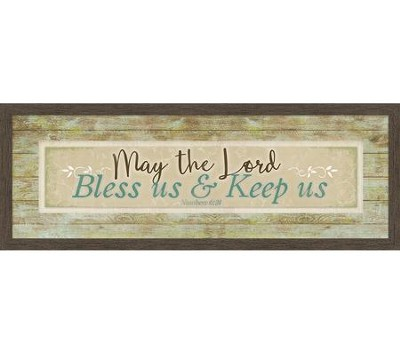 May the Lord Bless Us & Keep Us, Numbers 6:24, Framed Canvas  -