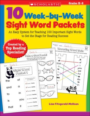 10 Week-by-Week Sight Word Packets  -     By: Lisa McKeon
