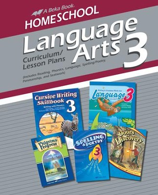 Abeka Homeschool Language Arts 3 Curriculum/Lesson Plans   -