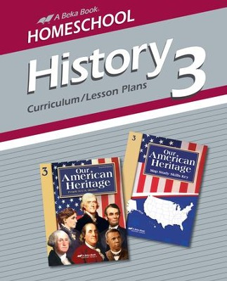 Abeka Homeschool History 3: Our American Heritage  Curriculum/ Lesson Plans  -