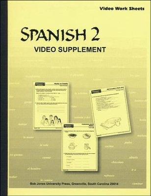 BJU Spanish 2, DVD Supplements    -