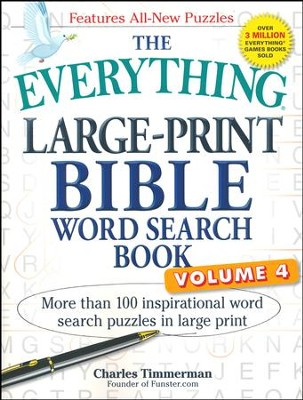 The Everything Large-Print Bible Word Search Book Vol 4  -     By: Charles Timmerman