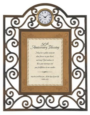 50th Anniversary Blessing Clock  -