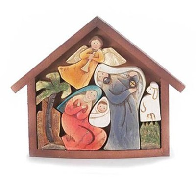 Holy Family Puzzle Creche  -
