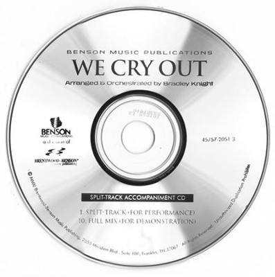 We Cry Out (Split-Track Accompaniment CD)   -