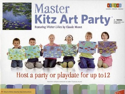 Master Kitz Art Party: Water Lilies by Claude Monet   -