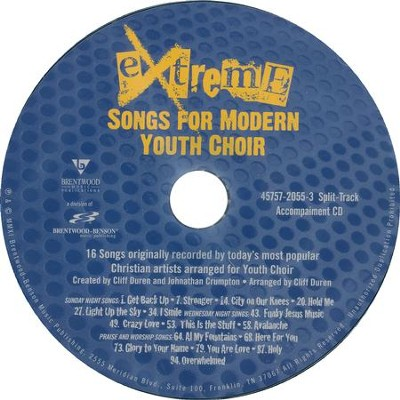 Extreme: Songs for Modern Youth Choir, Split-Track Acc, CD   -
