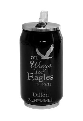 Personalized, Soda Can, Eagle, Black   -