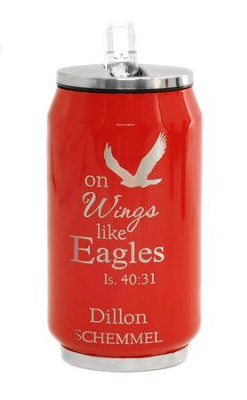 Personalized, Soda Can, Eagle, Red   -