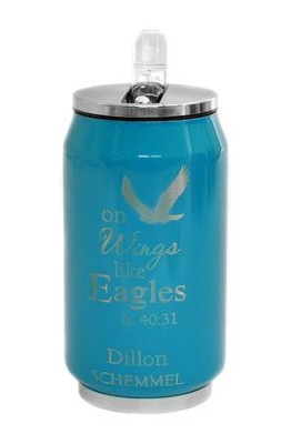 Personalized, Soda Can, Eagle, Blue   -