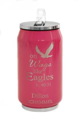 Personalized, Soda Can, Ealge, Pink   -