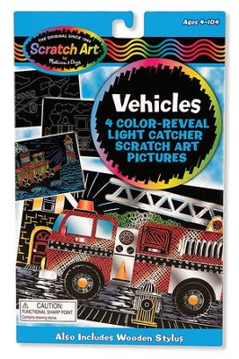 Scratch Art, Vehicles Color Reveal Light Catcher Pictures  -